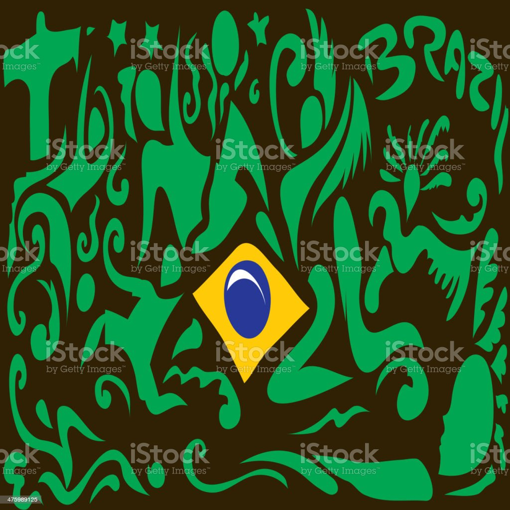 Brazil Art, Brazilian Blag (Vector Art) vector art illustration