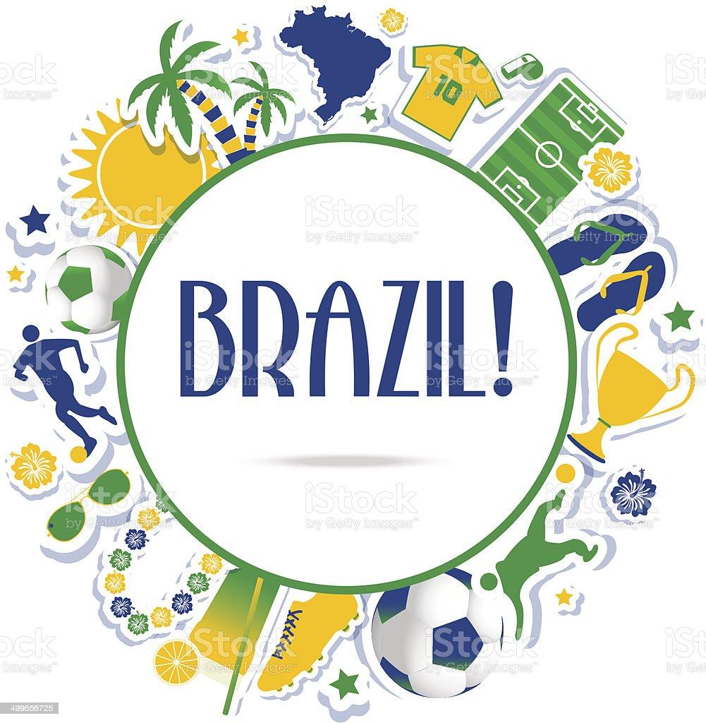 Brazil background vector art illustration