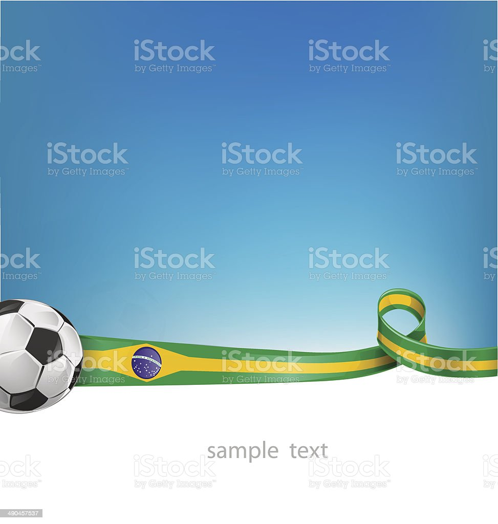 brazil background with soccer ball vector art illustration