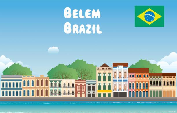 ilustrações, clipart, desenhos animados e ícones de brasil, belém - manaus