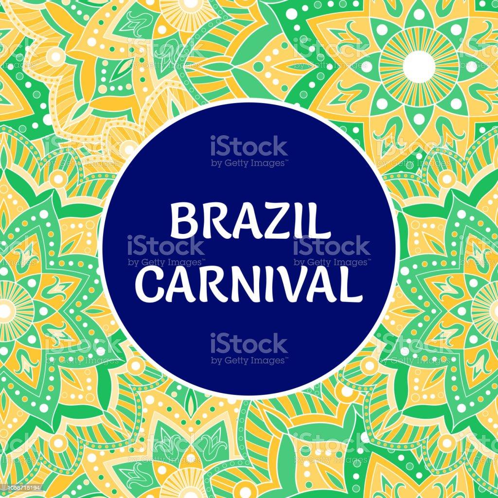 Brazil Carnival Illustration Vector Colorful Tropical Flowers Background Festive Design For Rio De Janeiro Banner Dance Show Poster Cards Or Music Festival Flyer Stock Illustration Download Image Now Istock