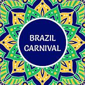Brazil Carnival illustration vector. Tropical colorful background. Festive design for Rio de Janeiro banner, dance show poster, cards or music festival flyer.
