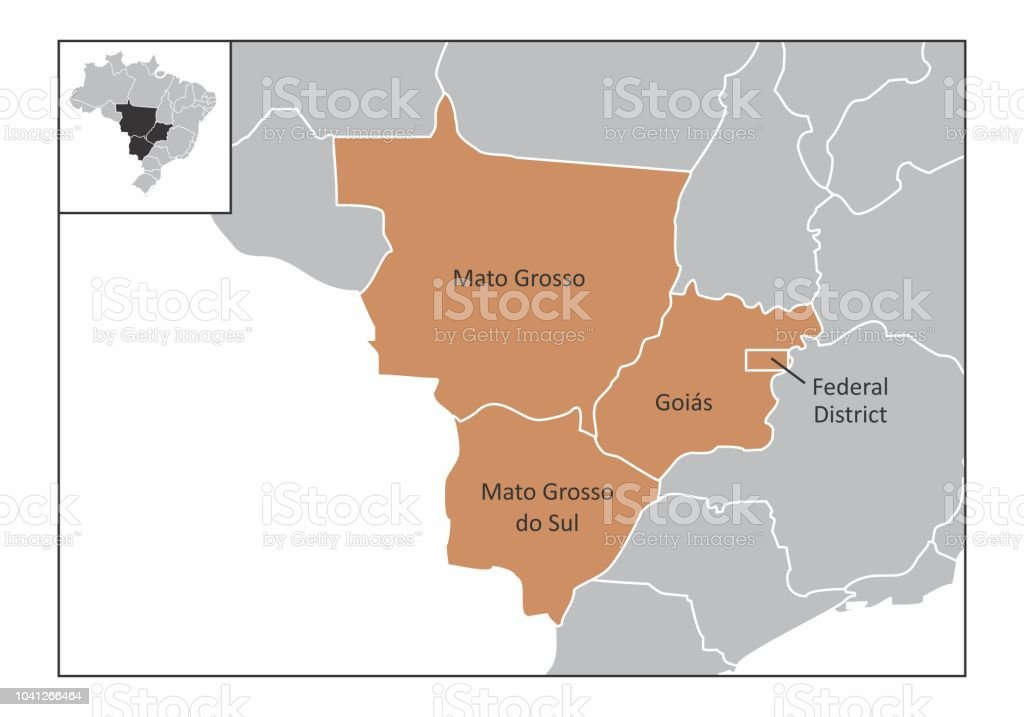 Brazil center-west region vector art illustration