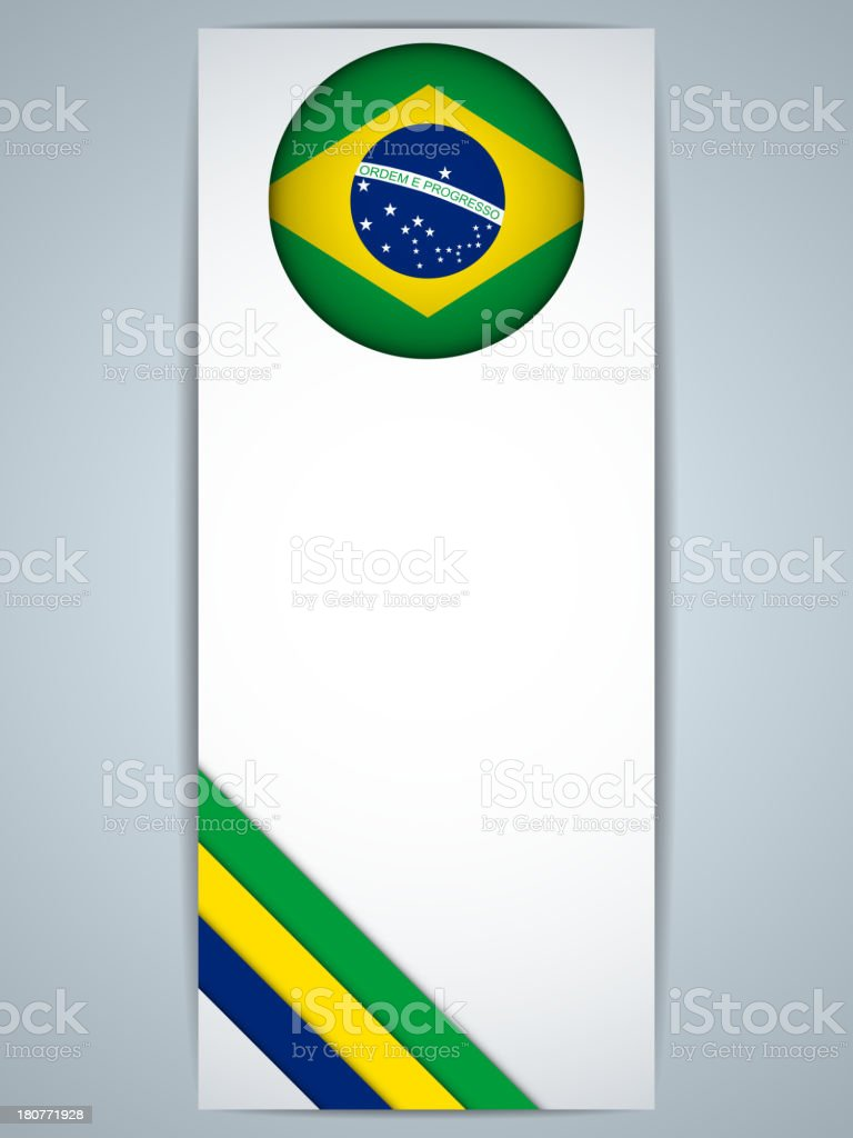 Brazil Country Banner royalty-free brazil country banner stock vector art & more images of abstract