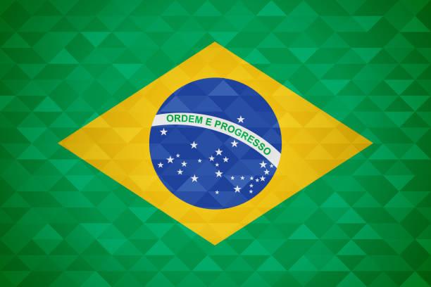 Brazil country flag of brazilian nation vector art illustration