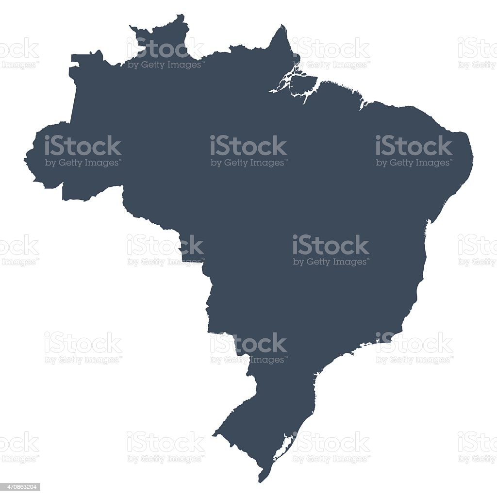 Brazil country map vector art illustration