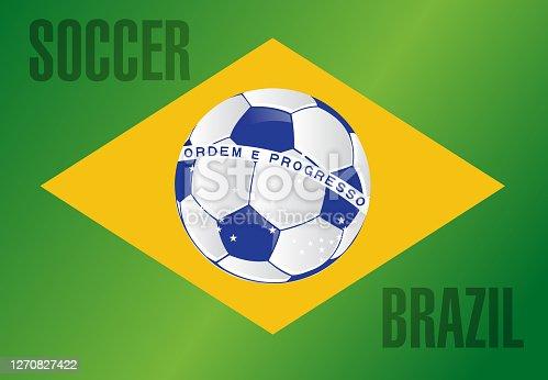 istock Brazil country soccer flag illustration 1270827422