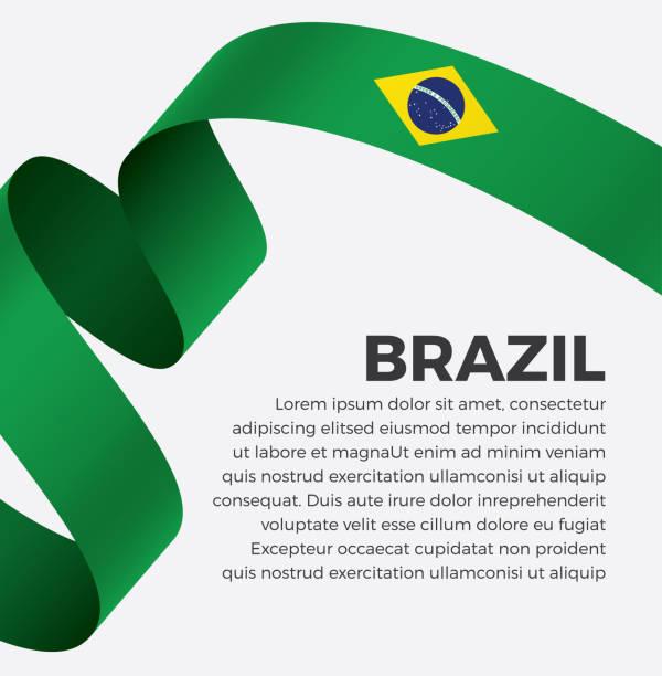 Fond de drapeau Brésil - Illustration vectorielle