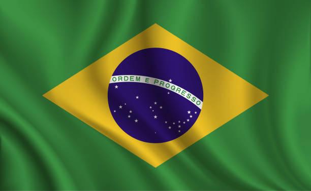 Brazil flag background vector art illustration