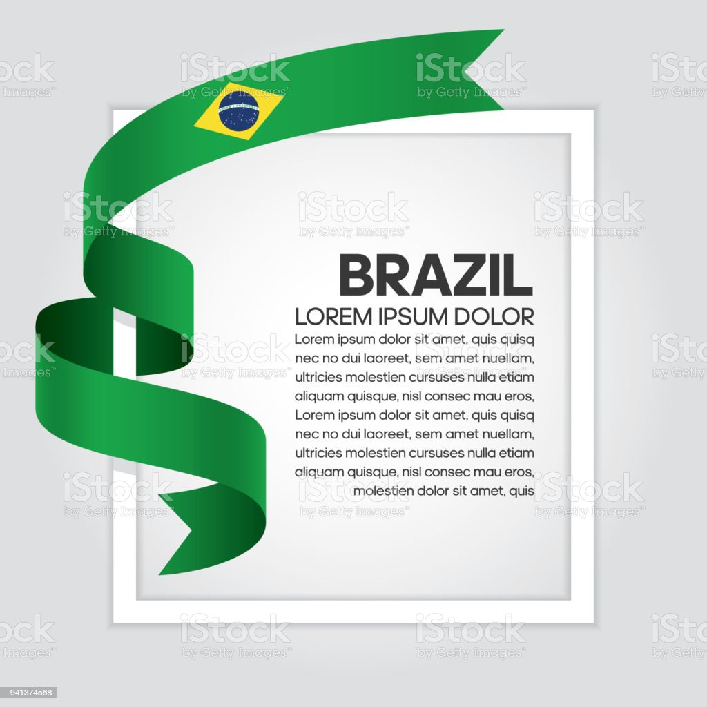 Brazil flag background vector art illustration