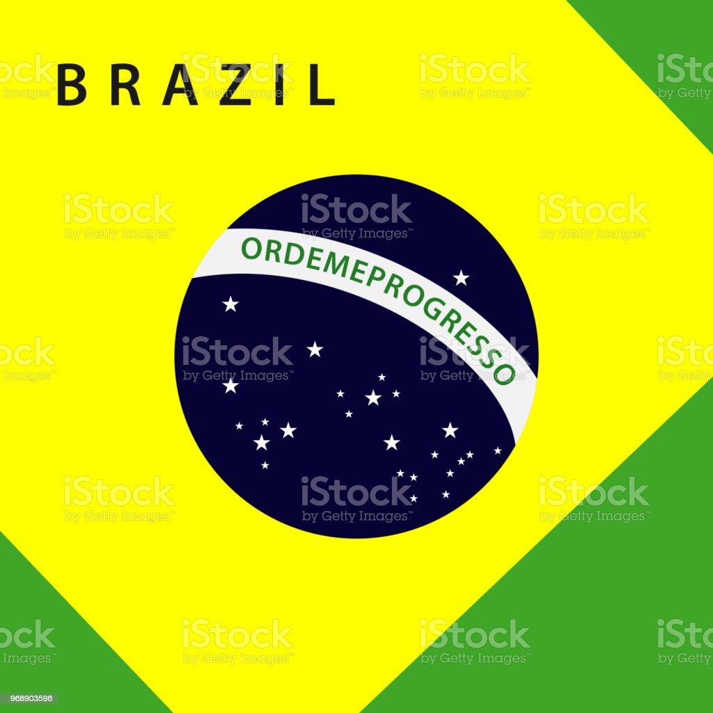 Brazil Flag Icon Vector Templa...