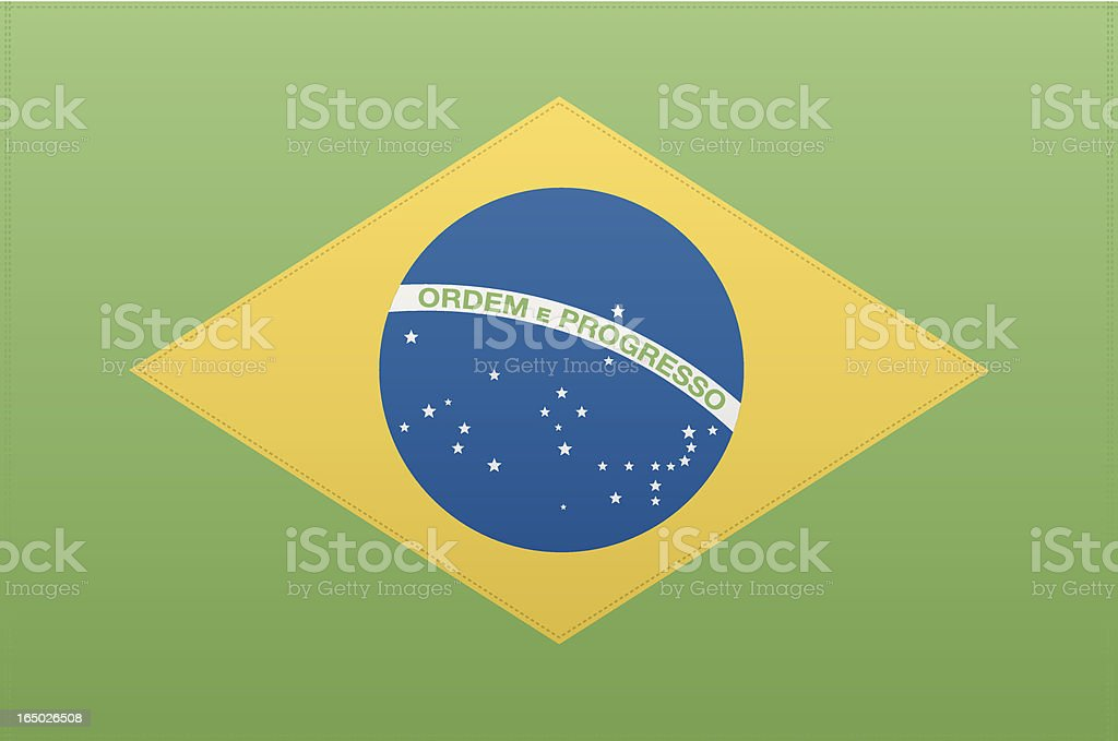 Brazil Flag (Vector) royalty-free stock vector art
