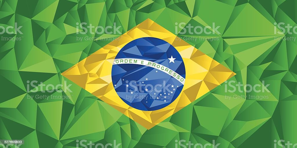 Brazil Flag vector art illustration