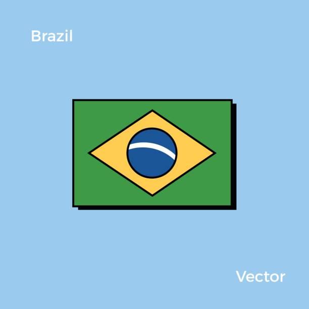 Brazil Flag vector art illustration