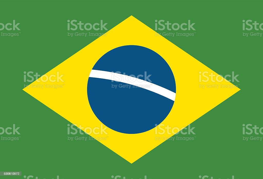 Brazil flag vector illustration vector art illustration