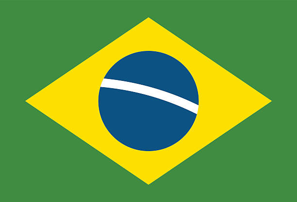 Brazil flag vector illustration vector art illustration