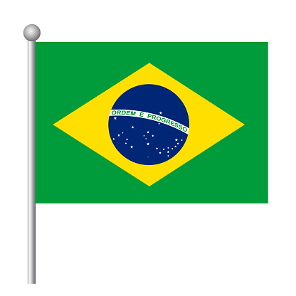 Brazil flag vector template background realistic copy