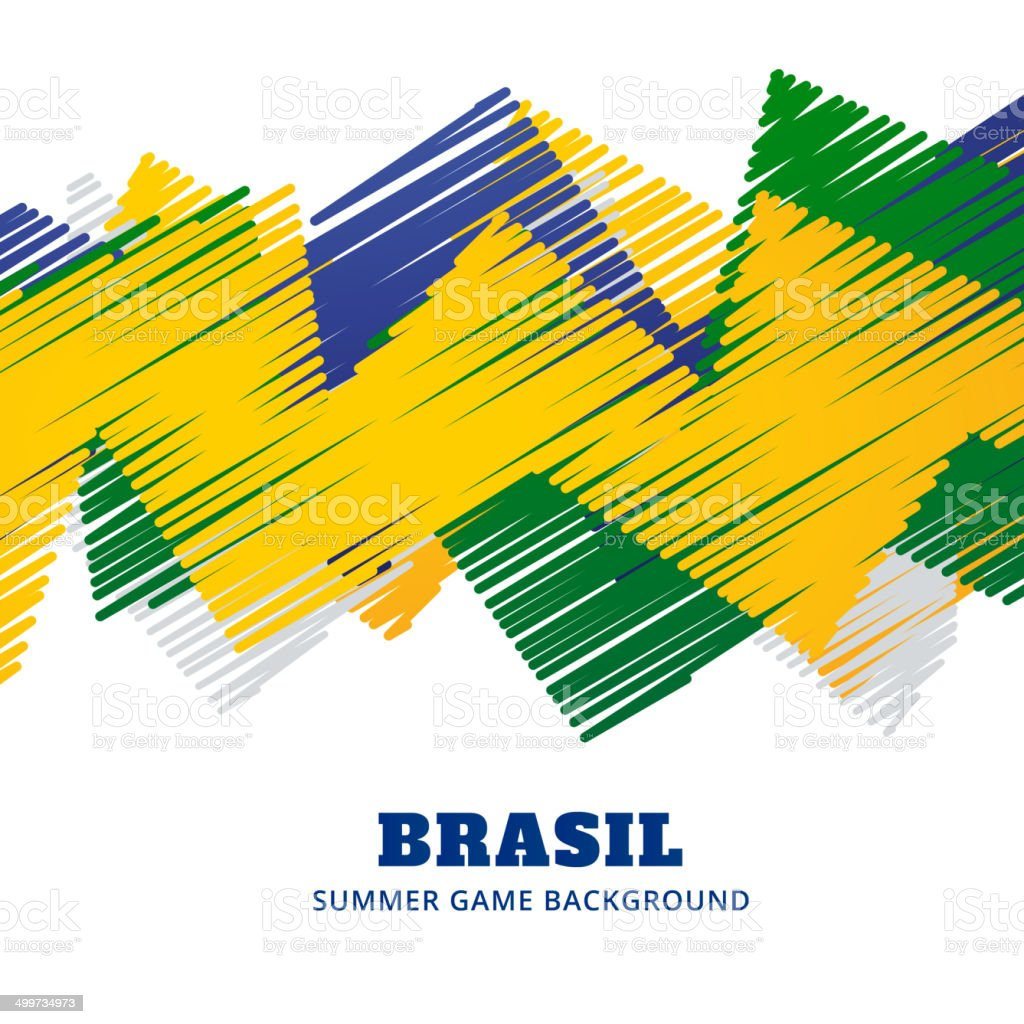brazil football game vector art illustration