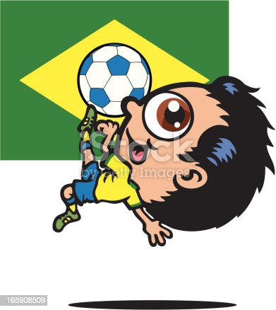 istock Brazil Football Player 165908509