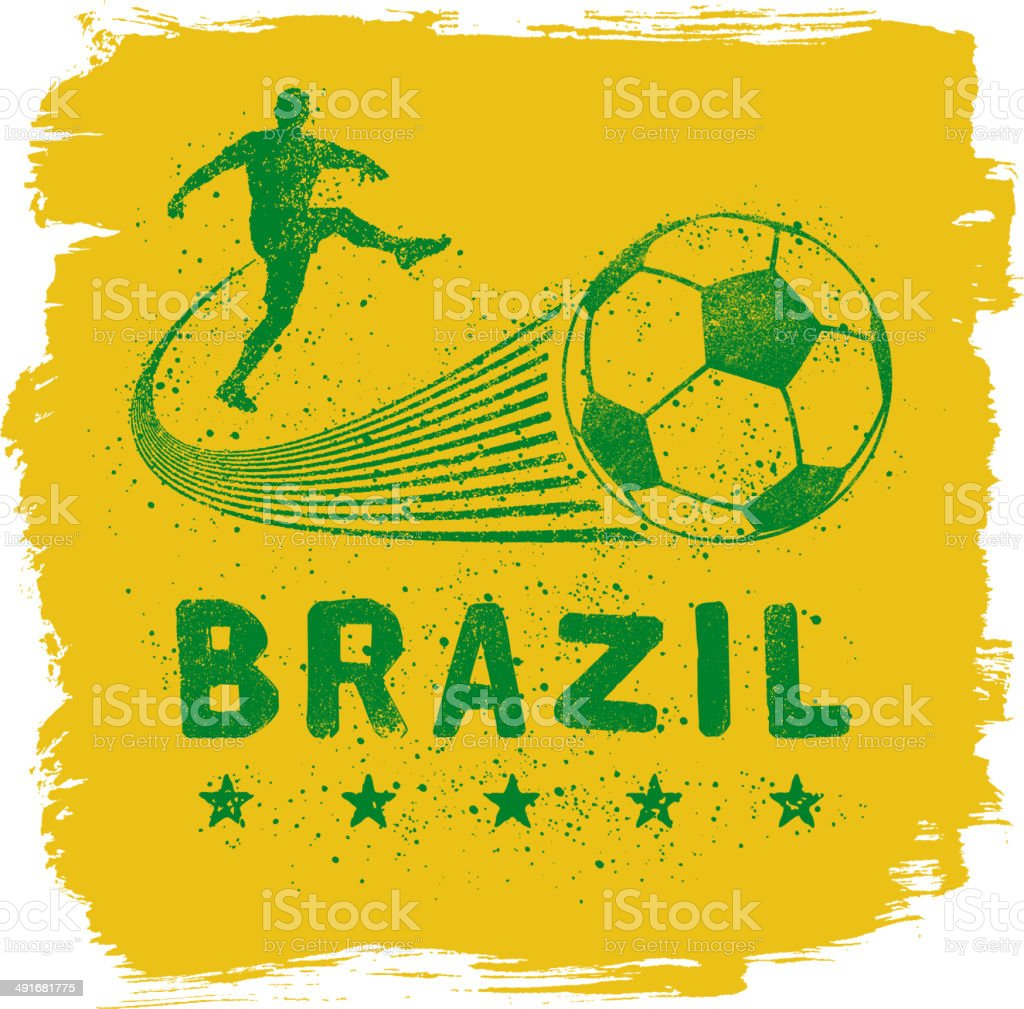 Brazil Graffiti Sign vector art illustration