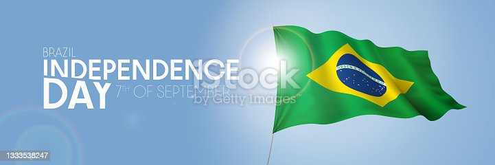 istock Brazil happy independence day greeting card, banner with template text vector illustration 1333538247