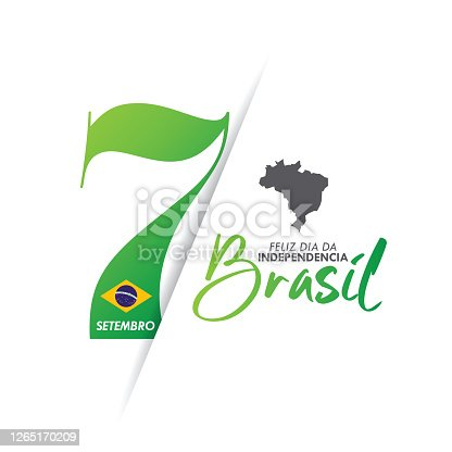 istock Brazil Independence Day greeting card. stock illustration 1265170209