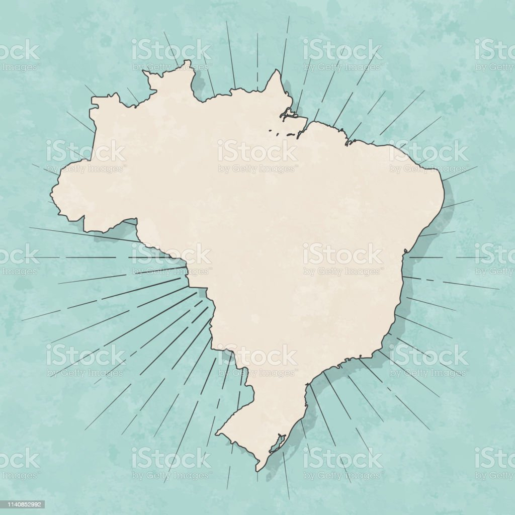 Brazil map in retro vintage style - Old textured paper - Royalty-free Abstract stock vector