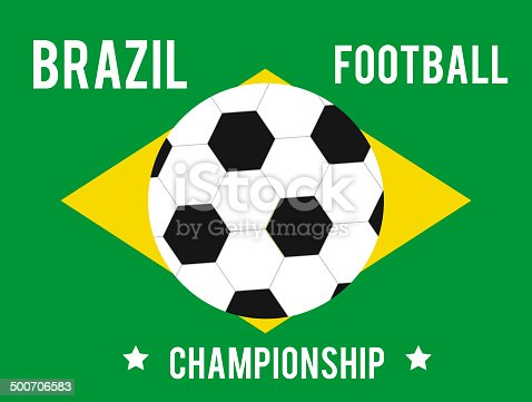 istock Brazil map in the colors of the flag 500706583