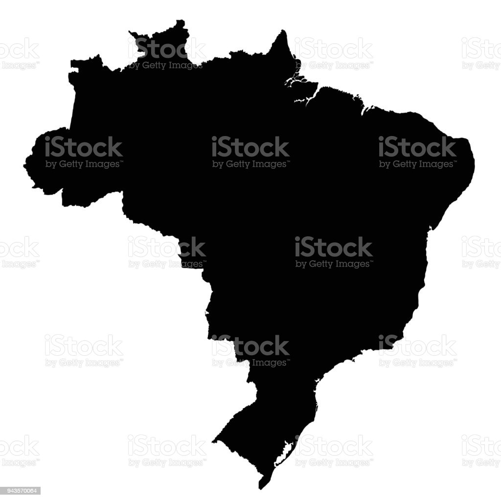 Brazil map outline vector isolated on white background stock vector brazil map outline vector isolated on white background royalty free brazil map outline vector isolated gumiabroncs Images