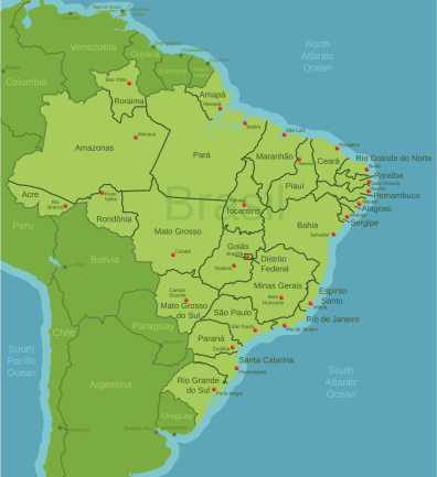 Brazil Map showing states