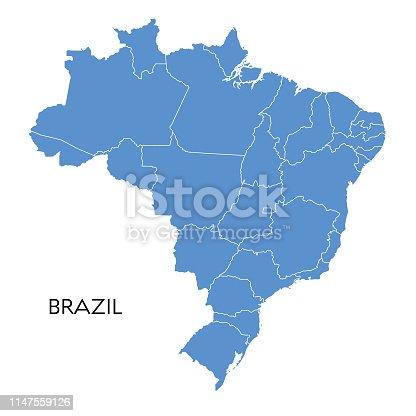 istock Brazil map 1147559126