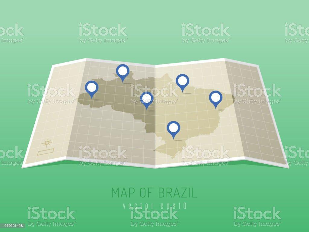 Mapa do Brasil - ilustração de arte em vetor