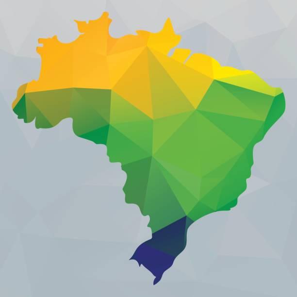 ilustrações, clipart, desenhos animados e ícones de mapa do brasil - brazil map