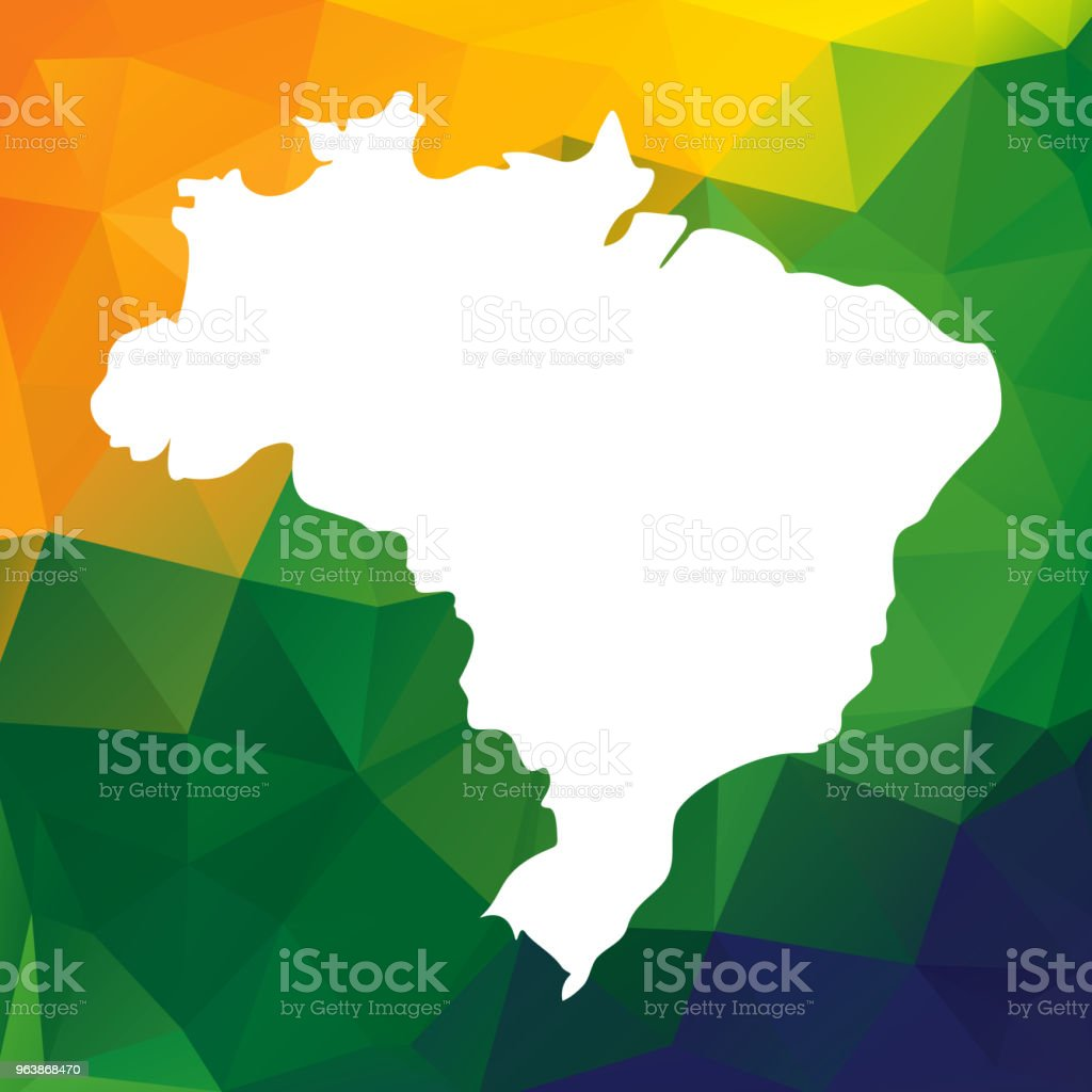 Brazil map - Royalty-free Abstract stock vector