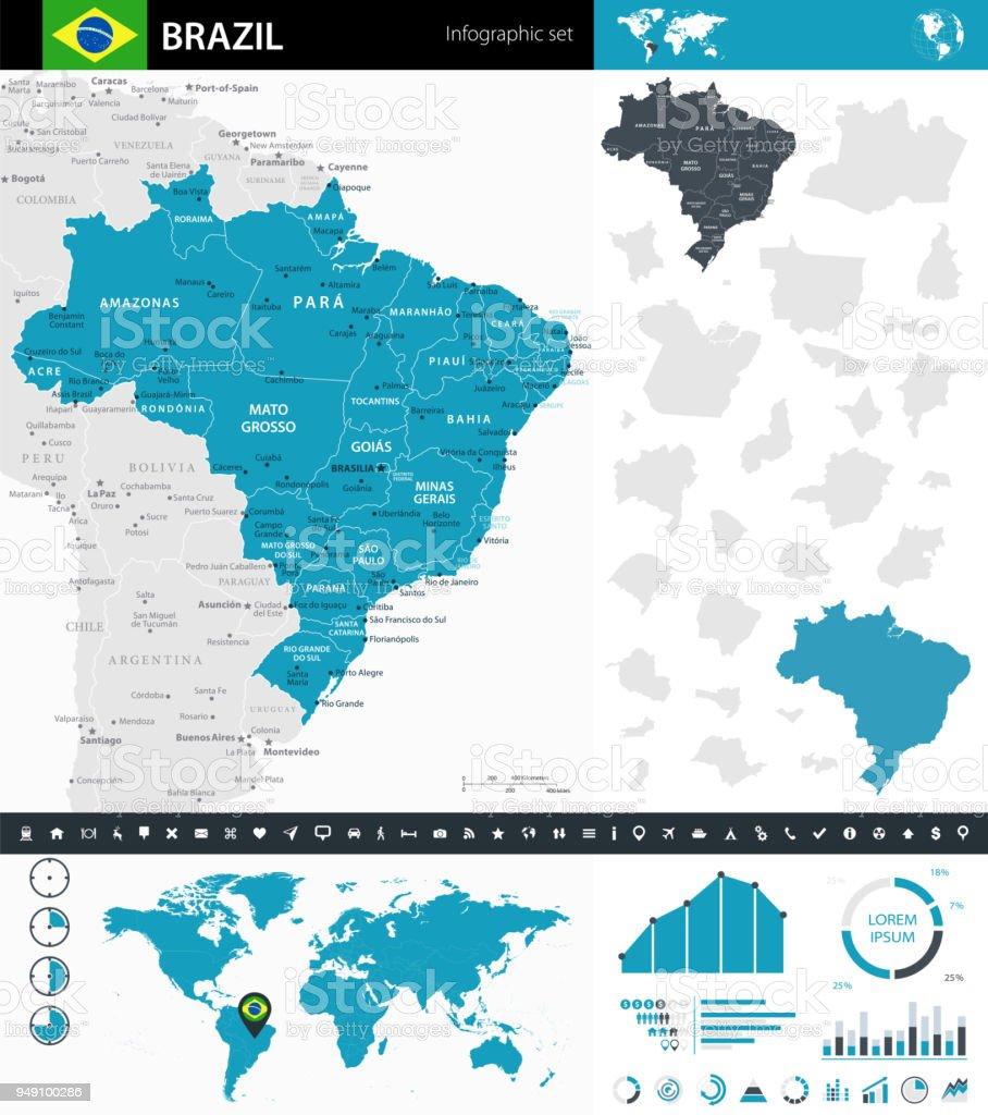 08 - Brasil - infográfico Murena 10 - ilustração de arte em vetor