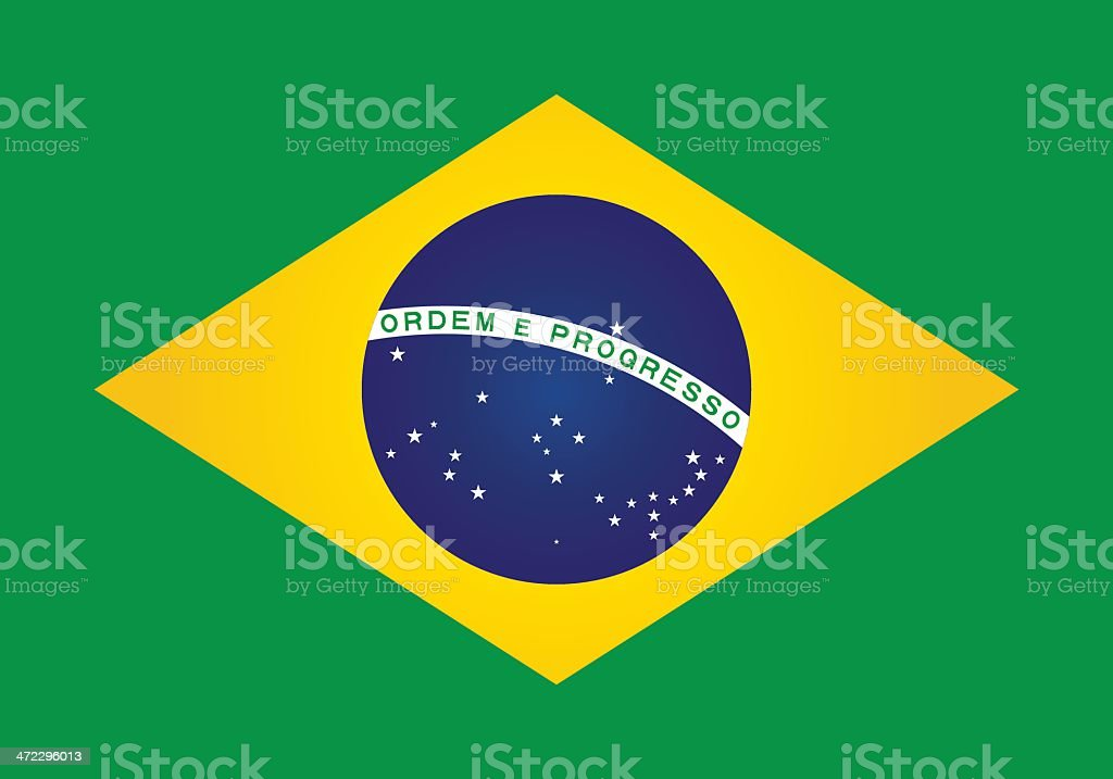 brazil or brazilian flag vector art illustration