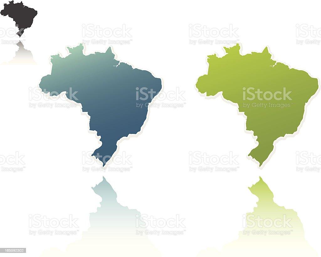 Brazil Outlines royalty-free stock vector art