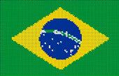 Brazil Pixelated Vector Flag