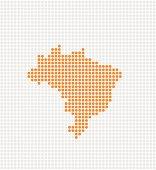 istock Brazil Pop Map ( Vector ) 165032363