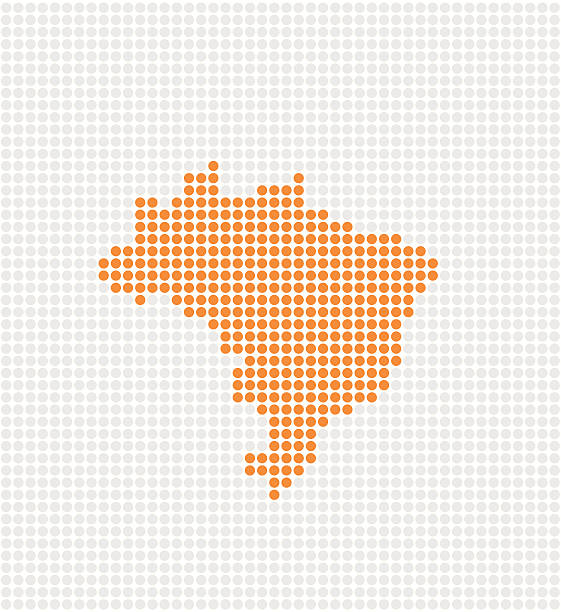 Brazil Pop Map ( Vector ) Abstract pop map. Made with circles. Grouped for easy color change. svg stock illustrations