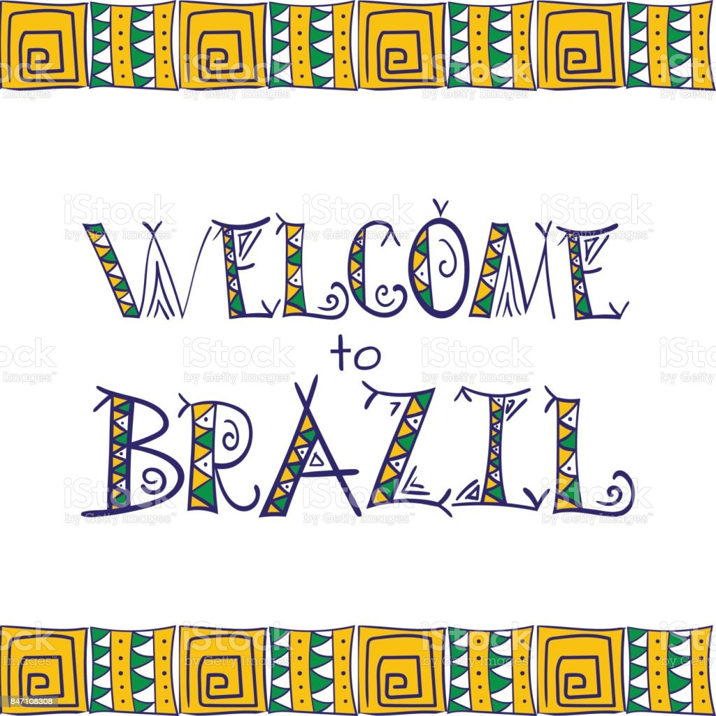Brazil poster. Rio banners vector art illustration