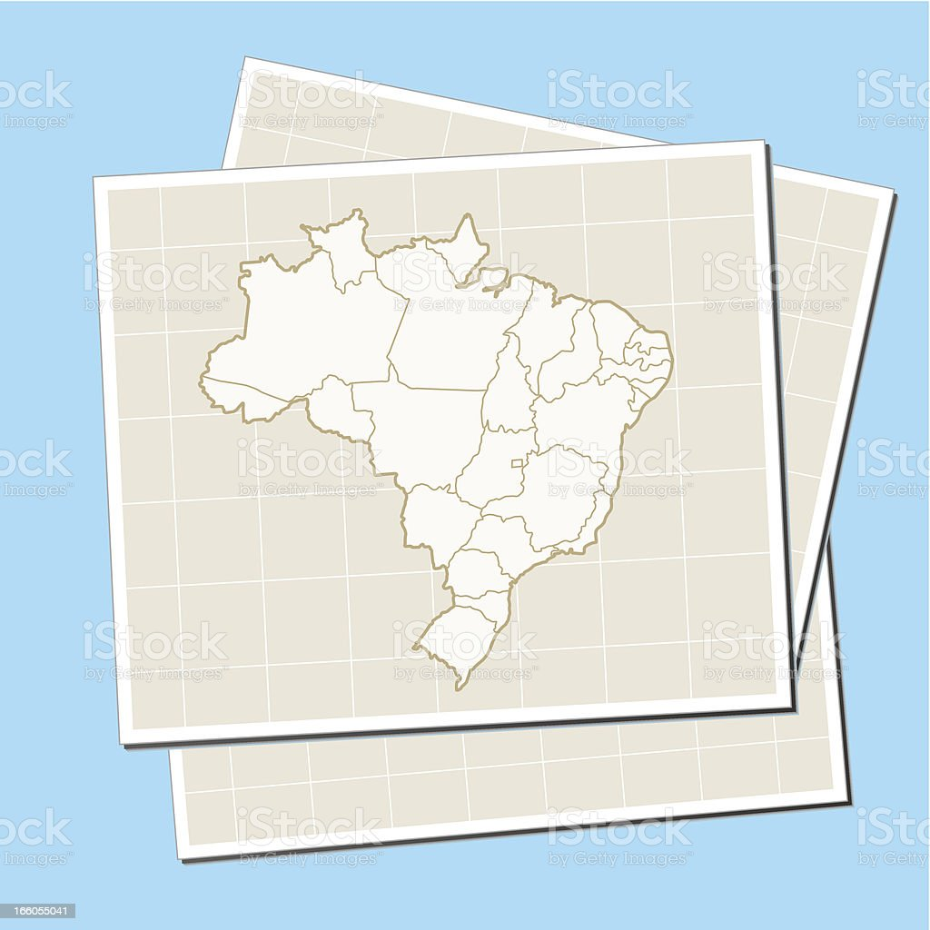 Brazil retro map on paper royalty-free brazil retro map on paper stock vector art & more images of beige