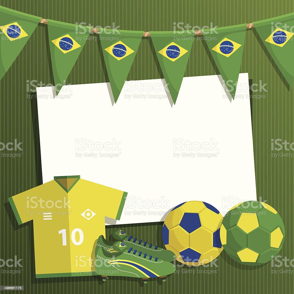 Decoración de fútbol de brasil - ilustración de arte vectorial