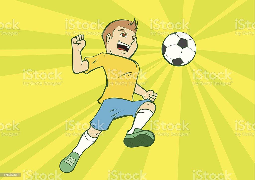 Brazil Soccer Player royalty-free stock vector art