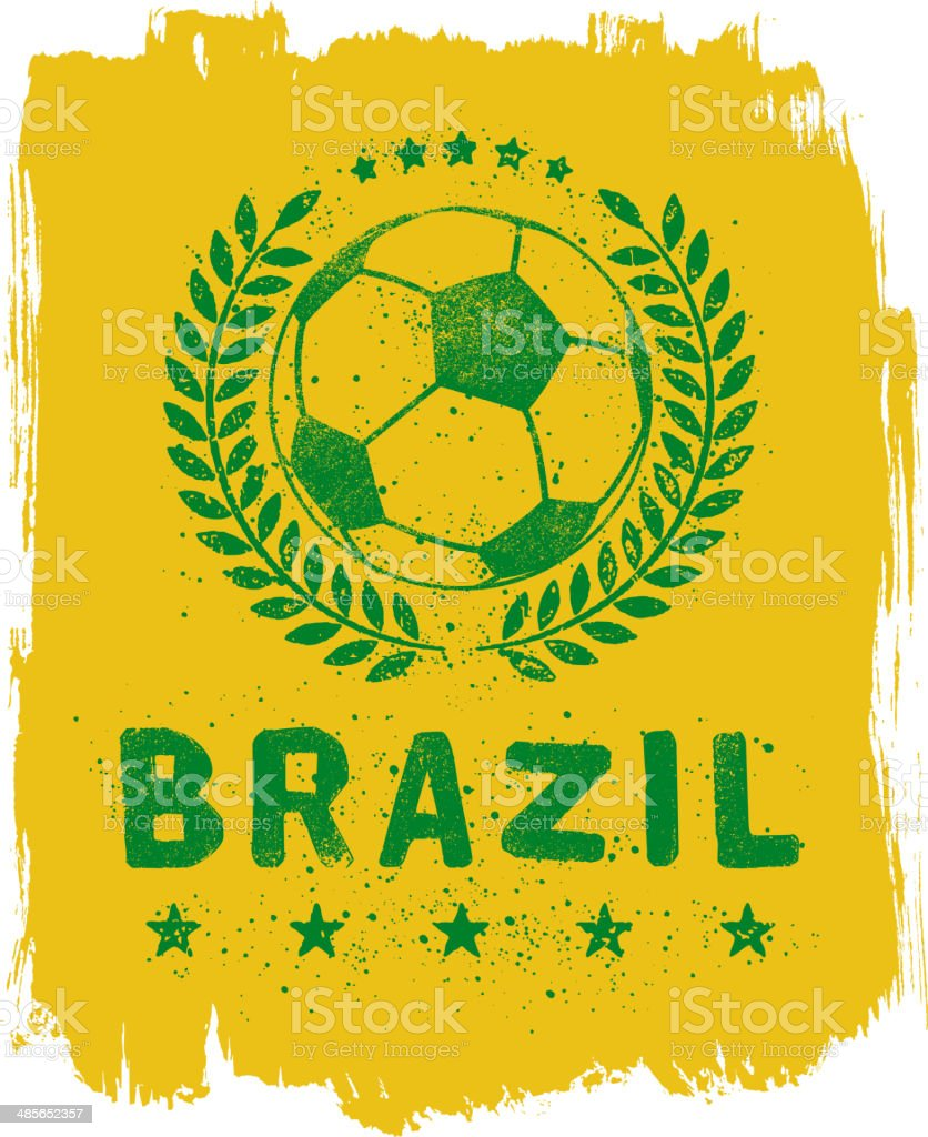 Brazil Soccer Sign vector art illustration