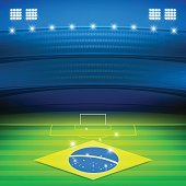 brazil soccer stadium background