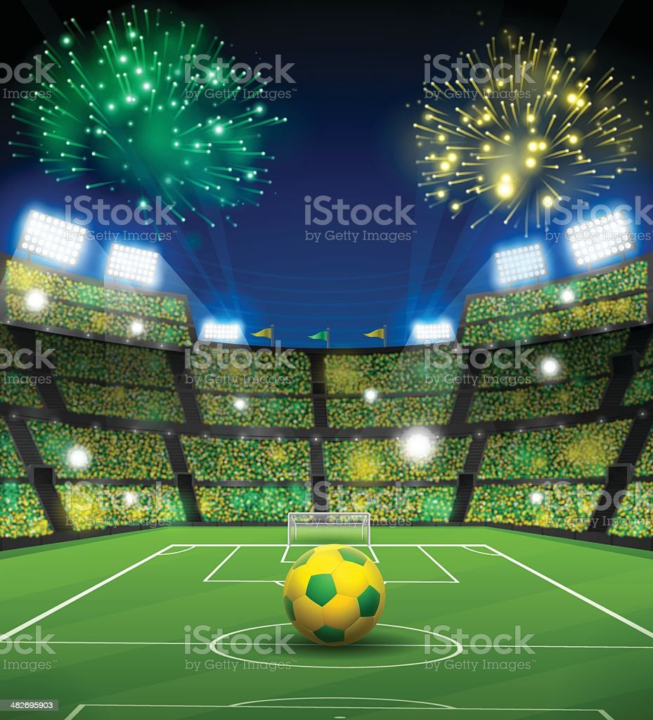 Brazil Soccer Stadium vector art illustration