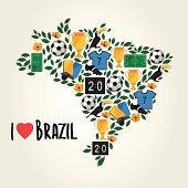 Brazil, soccer summer world game.