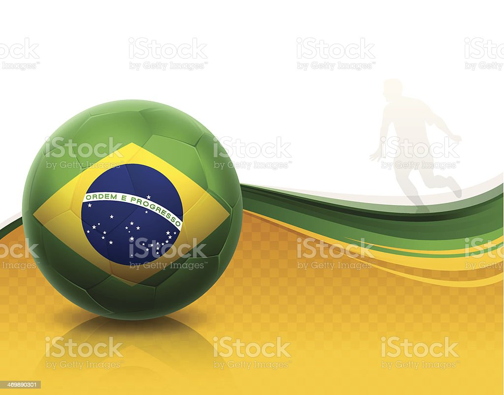 Brazil Soccer vector art illustration