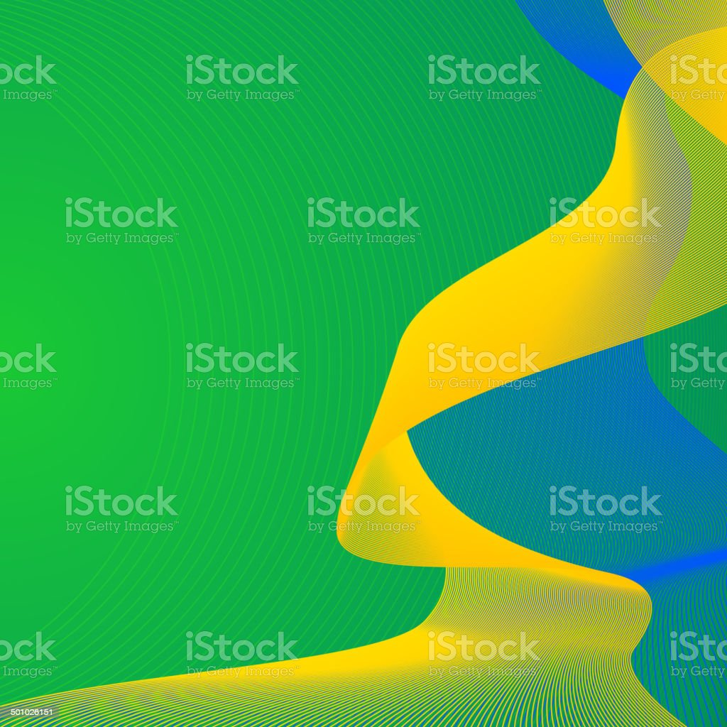 Brazil Soccer World Cup themed background vector art illustration